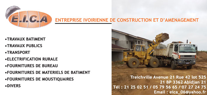 Eica entreprise ivoirienne de construction et d for Entreprise de construction