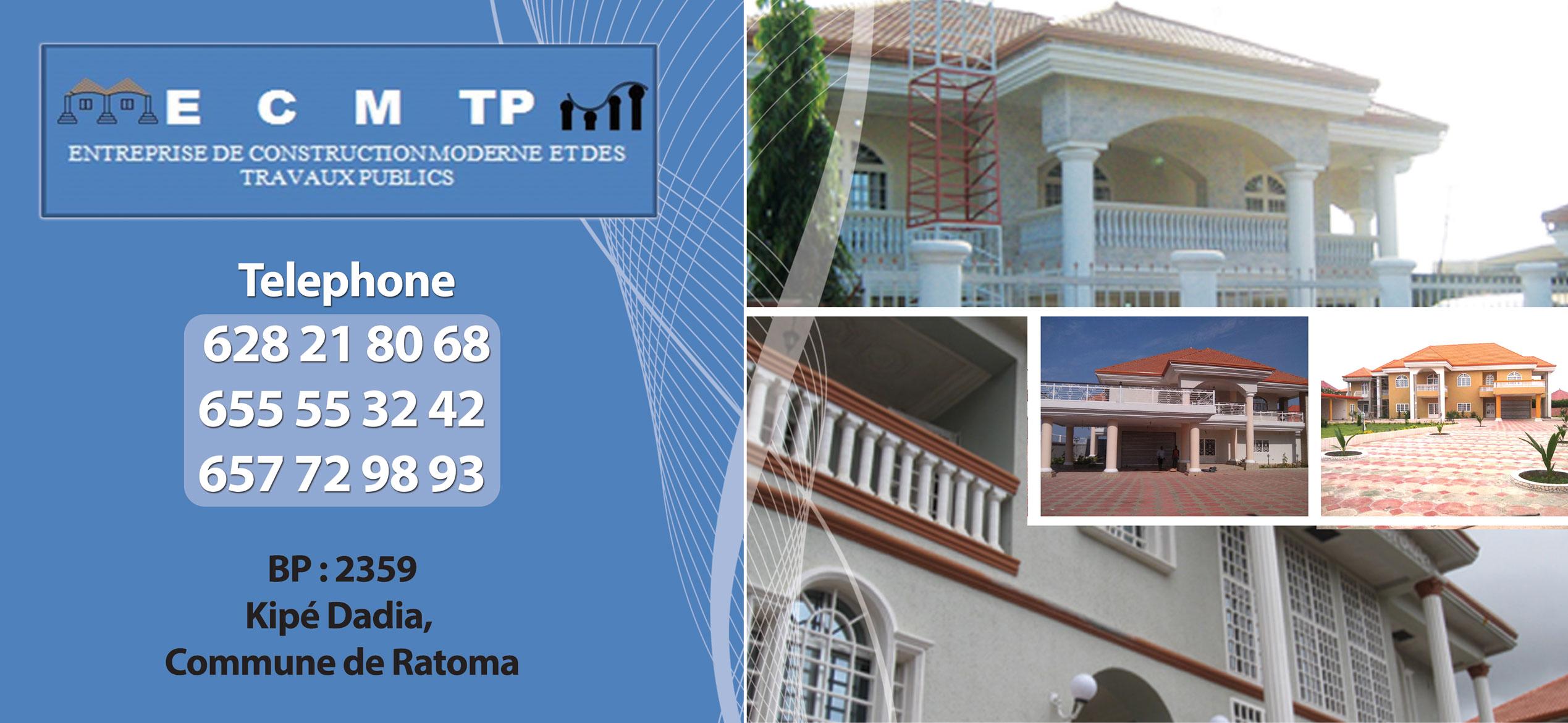 Ecm tp entreprise de construction moderne et des travaux for Entreprise de construction