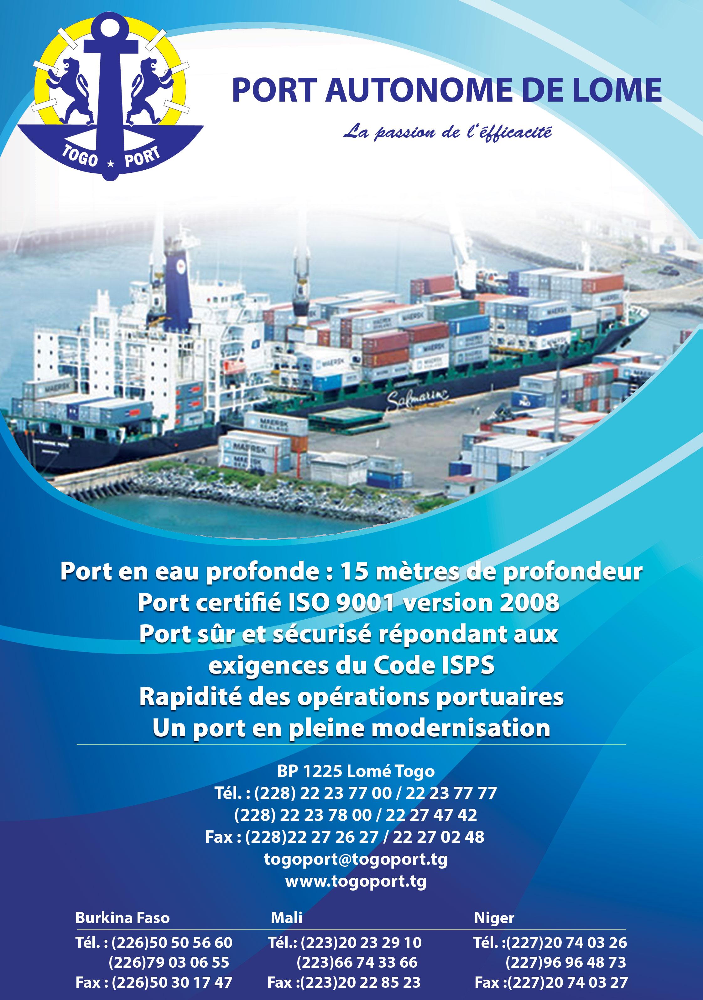 Port autonome de lome ports - Port autonome recrutement ...