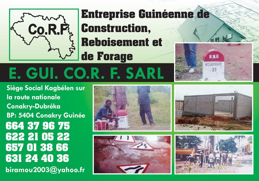 Eguicorf sarl entreprise de construction reboisement et for Entreprise de construction
