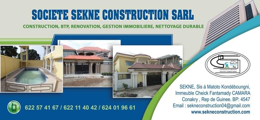 Soseco sarl societe sekne construction sarl b timent for Societe construction immobiliere