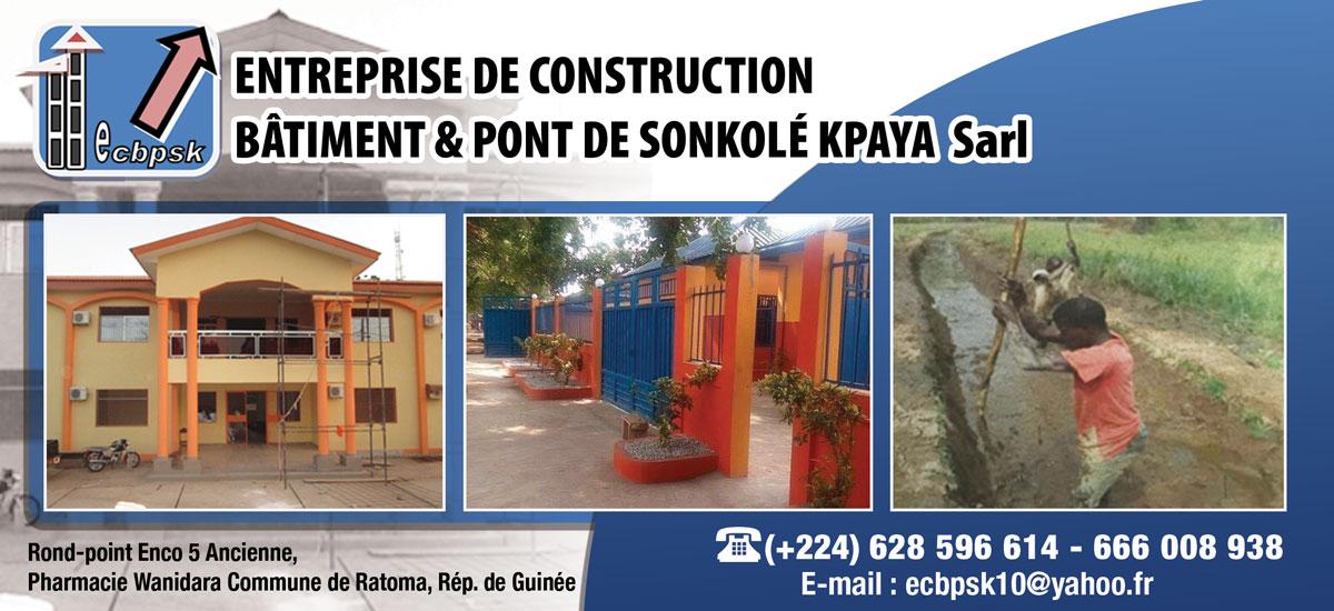 Ecbpsk sarl entreprise de construction batiment et pont for Entreprise de construction