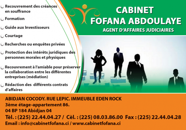 cabinet fofana abdoulaye conseil juridique conseil fiscal