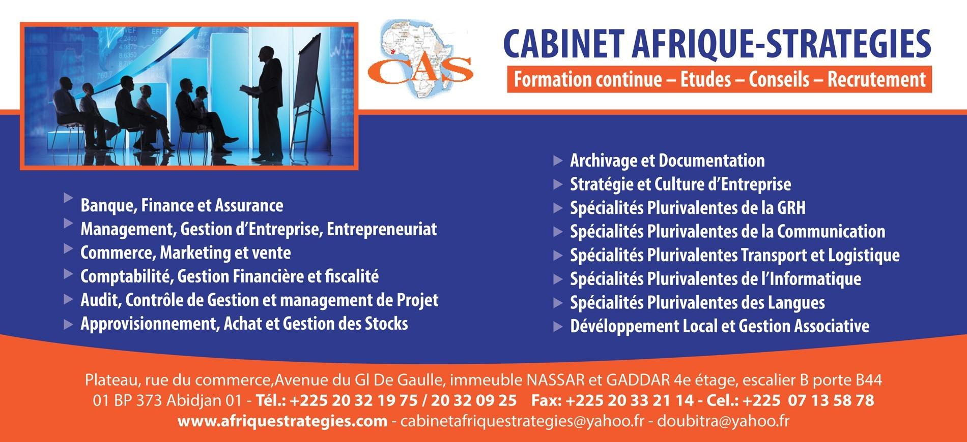 cabinet afrique strategies formation professionnelle