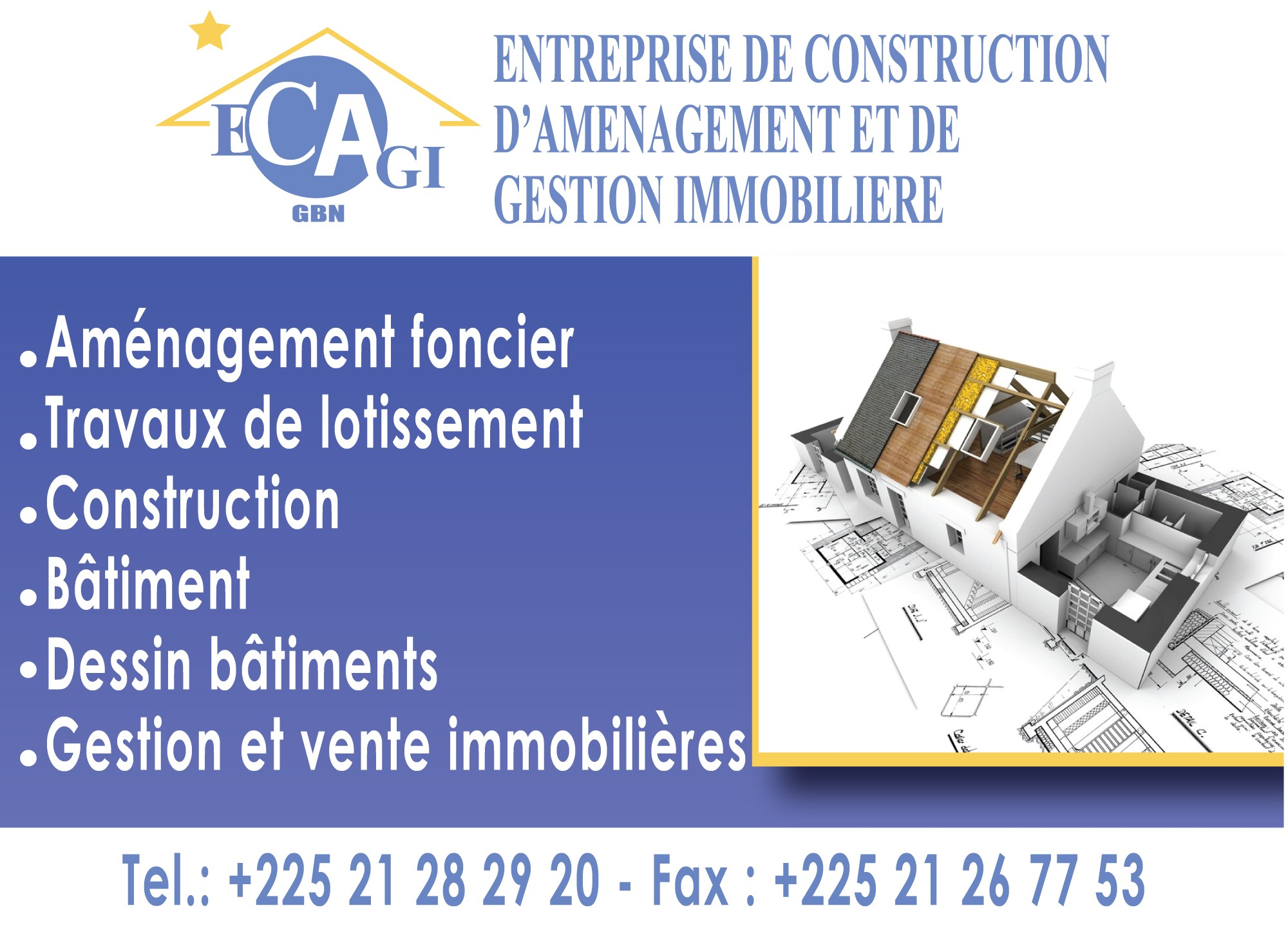 Ecagi entreprise de construction d 39 amenagement et de for Construction immobiliere