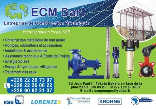 Ecm sarl entreprise de construction mecanique for Entreprise de construction