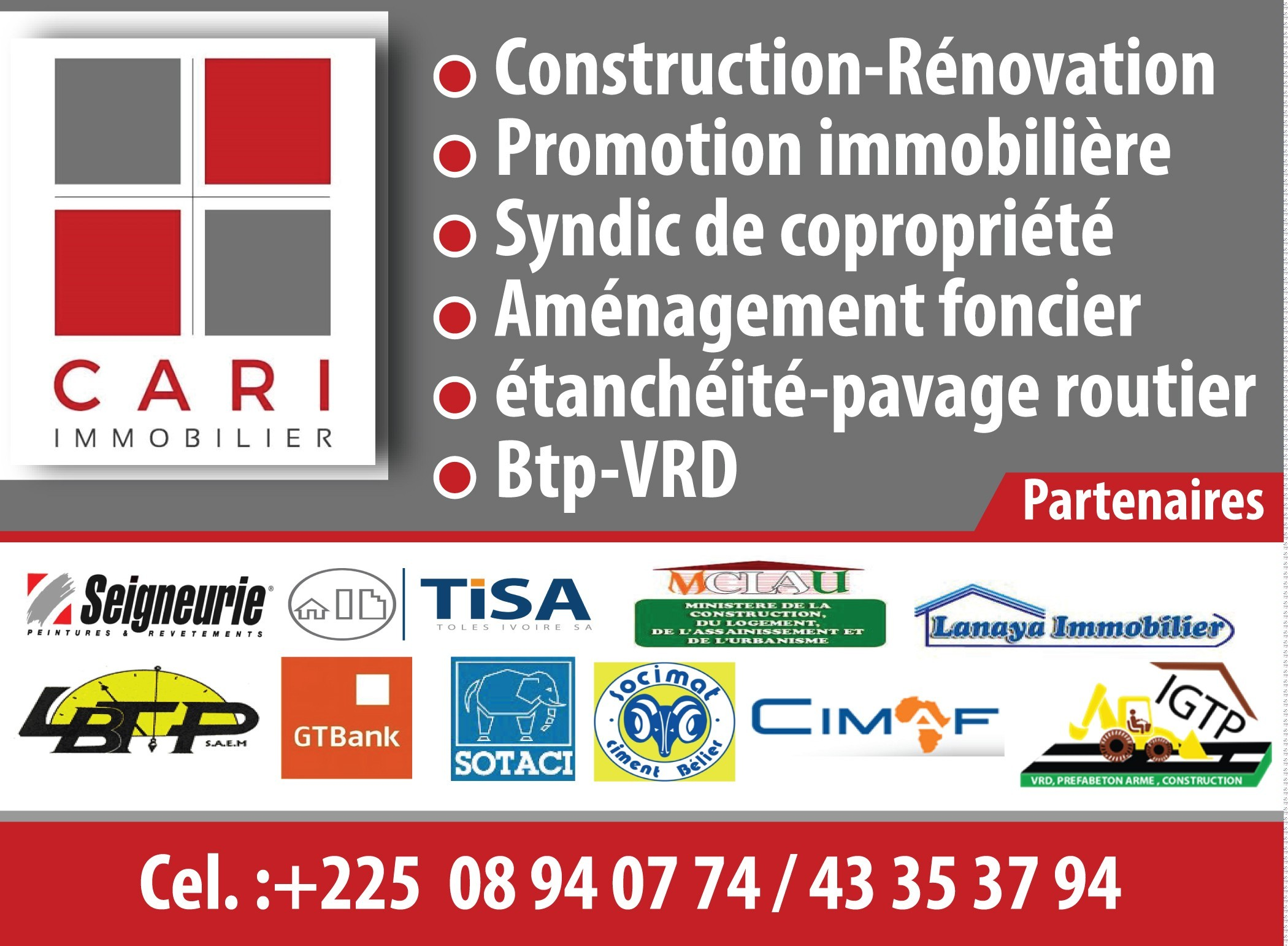 Cari compagnie africaine de realisation immobiliere for Construction immobiliere