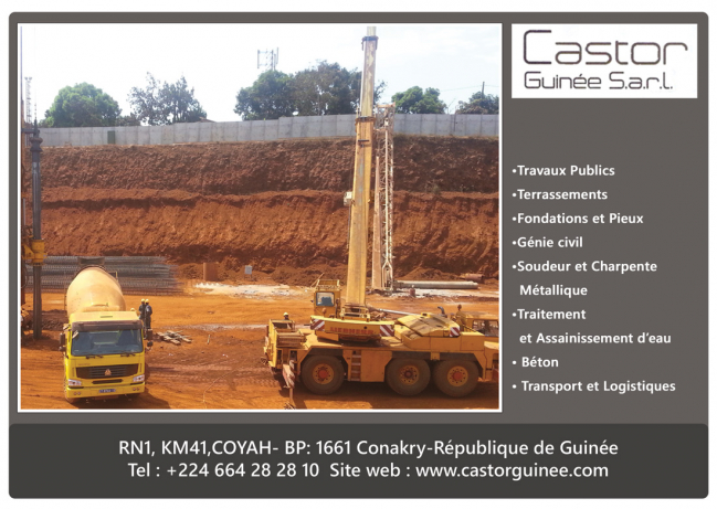 Castor guinee sarl b timent travaux publics for Castor construction
